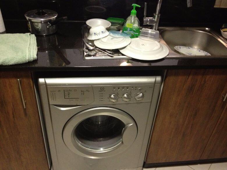 keuken wasmachine