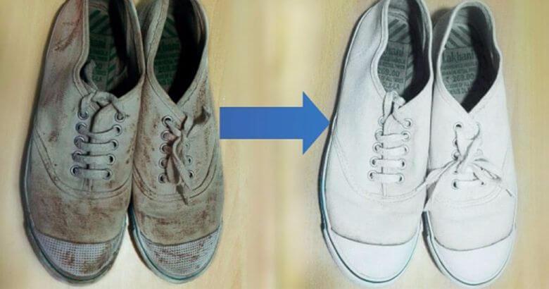 d85dd4179f2 Handig: zó krijg je die grauw-witte schoenen weer wit - Tips en Weetjes