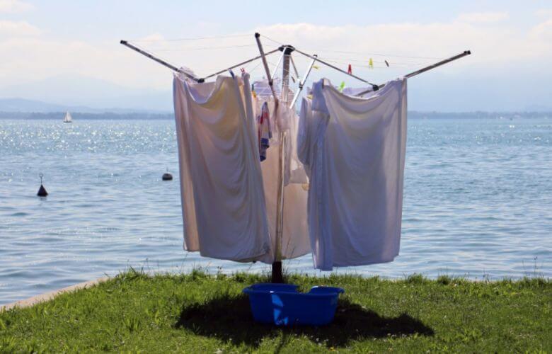wasgoed drogen besparen